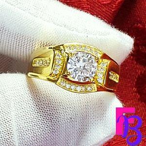 2.5 CTW Mens Yellow Gold Diamond Ring